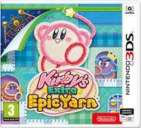 Portada oficial de Más Kirby en el reino de los hilos para Nintendo 3DS