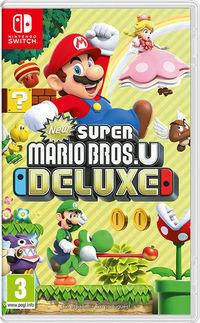 Portada oficial de New Super Mario Bros. U Deluxe para Switch
