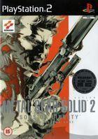 Portada oficial de de Metal Gear Solid 2: Sons of Liberty para PS2