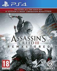 Portada oficial de Assassin's Creed III Remastered para PS4