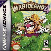 Portada oficial de Wario Land 4 para Game Boy Advance