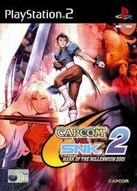 Portada oficial de Capcom vs SNK 2 para PS2