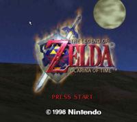 Portada oficial de The Legend of Zelda: Ocarina of Time CV para Wii