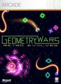 Portada oficial de Geometry Wars Evolved XBLA para Xbox 360