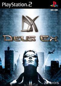 Portada oficial de Deus Ex para PS2