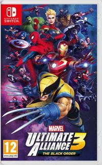 Portada oficial de Marvel Ultimate Alliance 3: The Black Order para Switch