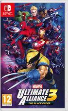 Portada oficial de de Marvel Ultimate Alliance 3: The Black Order para Switch