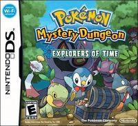 Portada oficial de Pokémon Mundo Misterioso: Exploradores del Tiempo y de la Oscuridad para NDS