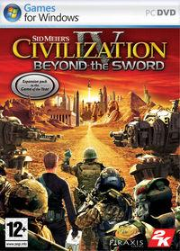 Portada oficial de Civilization IV: Beyond the Sword para PC