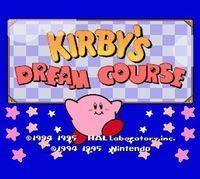 Portada oficial de Kirby's Dream Course CV para Wii