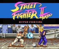 Portada oficial de Street Fighter II Turbo: Hyper Fighting para Wii