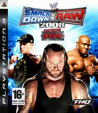 Portada oficial de WWE Smackdown vs Raw 2008 para PS3