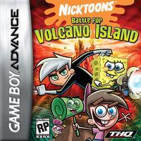 Portada oficial de Nicktoons Battle for Volcano Island para Game Boy Advance