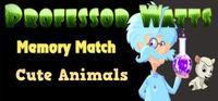 Portada oficial de Professor Watts Memory Match: Cute Animals para PC