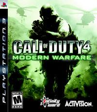 Portada oficial de Call of Duty 4: Modern Warfare para PS3