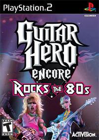 Portada oficial de Guitar Hero: Rocks the 80's para PS2