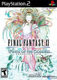 Portada oficial de Final Fantasy XI: Wings of the Goddess para PS2