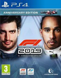 Portada oficial de F1 2019 para PS4