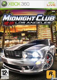 Portada oficial de Midnight Club: Los Angeles para Xbox 360