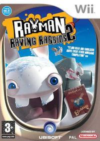 Portada oficial de Rayman Raving Rabbids 2 para Wii