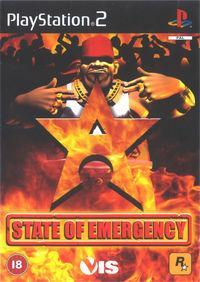 Portada oficial de State of Emergency para PS2