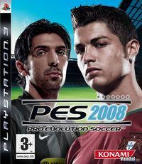 Portada oficial de Pro Evolution Soccer 2008 para PS3