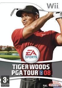 Portada oficial de Tiger Woods PGA Tour 08 para Wii