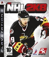 Portada oficial de NHL 2K8 para PS3