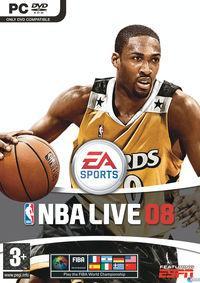 Portada oficial de NBA Live 08 para PC