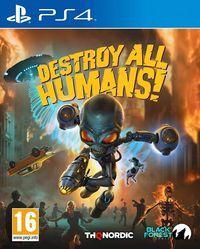 Portada oficial de Destroy All Humans! Remake para PS4