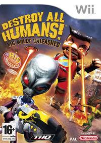Portada oficial de Destroy All Humans! Big Willy Unleashed para Wii