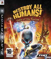 Portada oficial de Destroy All Humans! Path of the Furon para PS3