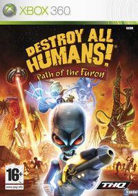 Portada oficial de Destroy All Humans! Path of the Furon para Xbox 360