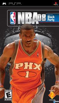 Portada oficial de NBA 08 para PSP