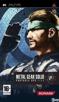 Portada oficial de Metal Gear Solid Portable Ops Plus para PSP