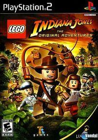 Portada oficial de LEGO Indiana Jones para PS2
