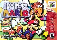 Portada oficial de Paper Mario para Nintendo 64
