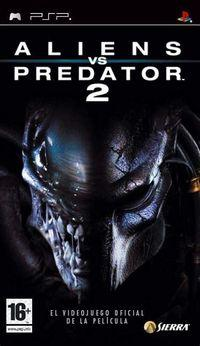 Portada oficial de Alien vs Predator 2 para PSP