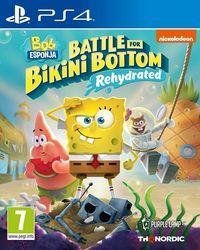Portada oficial de SpongeBob SquarePants Battle for Bikini Bottom – Rehydrated para PS4