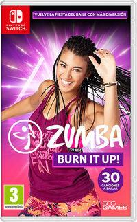 Portada oficial de Zumba Burn It Up! para Switch