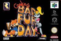 Portada oficial de Conker's Bad Fur Day para Nintendo 64