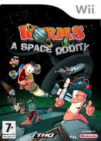 Portada oficial de Worms: Una gusanodisea espacial para Wii