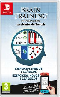 Portada oficial de Brain Training del Dr. Kawashima para Nintendo Switch para Switch