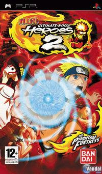 Portada oficial de Naruto: Ultimate Ninja Heroes 2: The Phantom Fortress para PSP