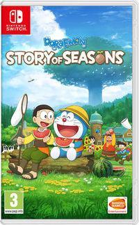 Portada oficial de Doraemon Story of Seasons para Switch