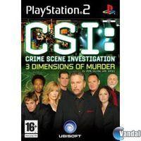 Portada oficial de CSI: Las Tres Dimensiones del Asesinato para PS2
