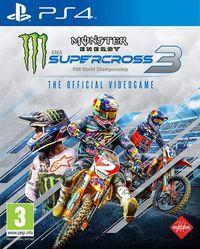 Portada oficial de Monster Energy Supercross: The Official Videogame 3 para PS4