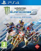 Portada oficial de de Monster Energy Supercross: The Official Videogame 3 para PS4