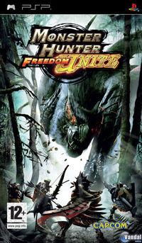 Portada oficial de Monster Hunter Freedom Unite para PSP