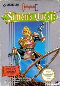 Portada oficial de Castlevania II: Simon's Quest CV para Wii